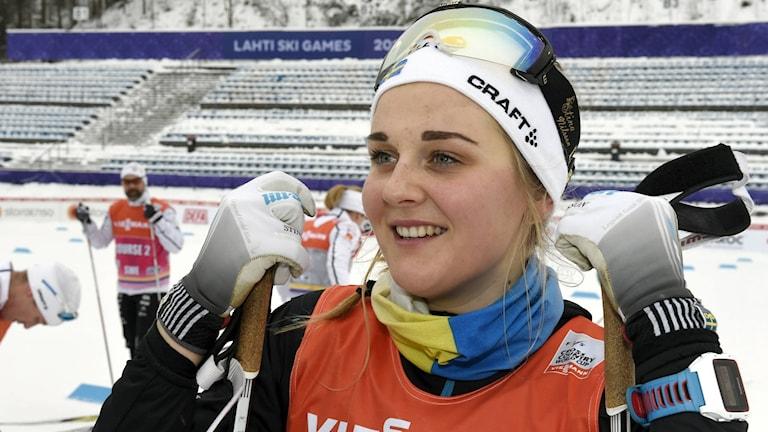 Längskidåkaren Stina Nilsson.