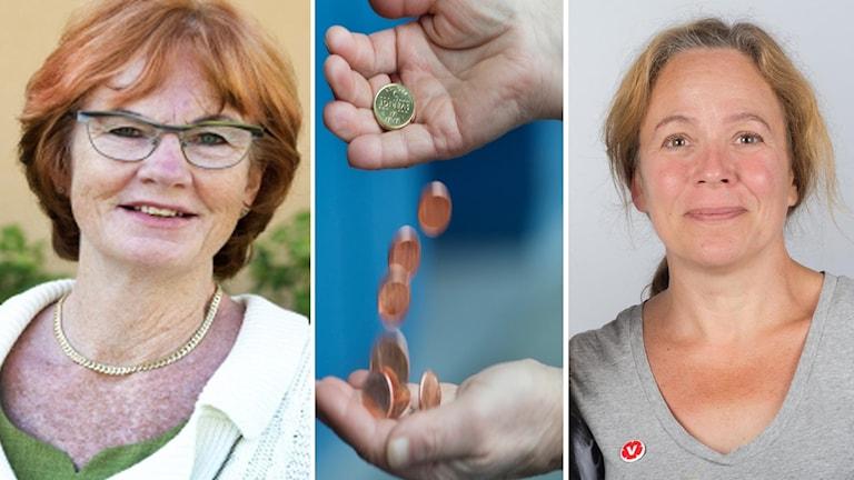 Riksdagsledamoten Ann-Britt Åsebol (M) och landstingspolitikern Kajsa Fredholm (V)