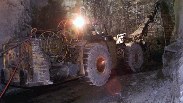 Garpenberg gruva, gruvarbete pågår