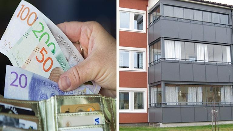 Pengar och ett hyreshus