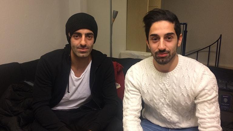 Bröderna och innebandystjärnorna Ciya och Hassan Hajo.