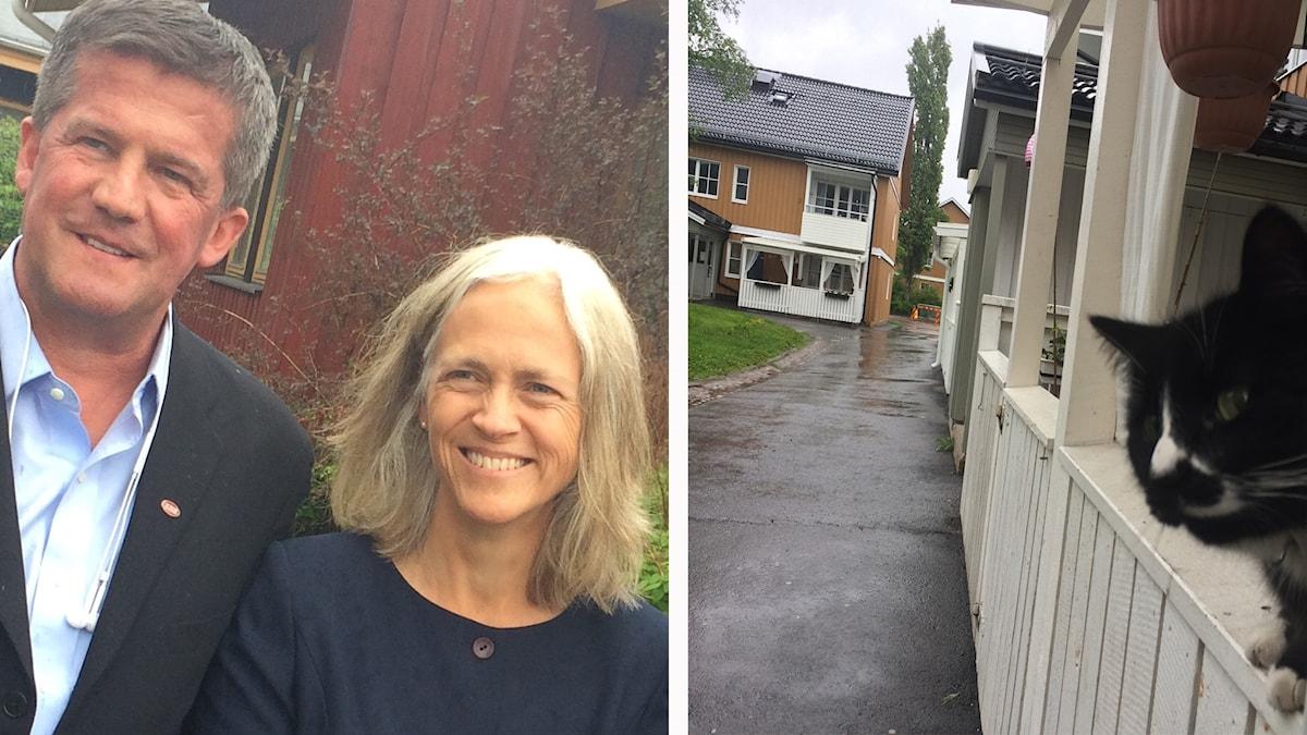 Ilija Batljan, vd för Samhällsbyggnadsbolaget i Norden AB och Pernilla Wigren, vd Kopparstaden