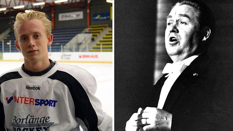 Borlänge hockeys Alexander Glimtoft och Jussi Björling