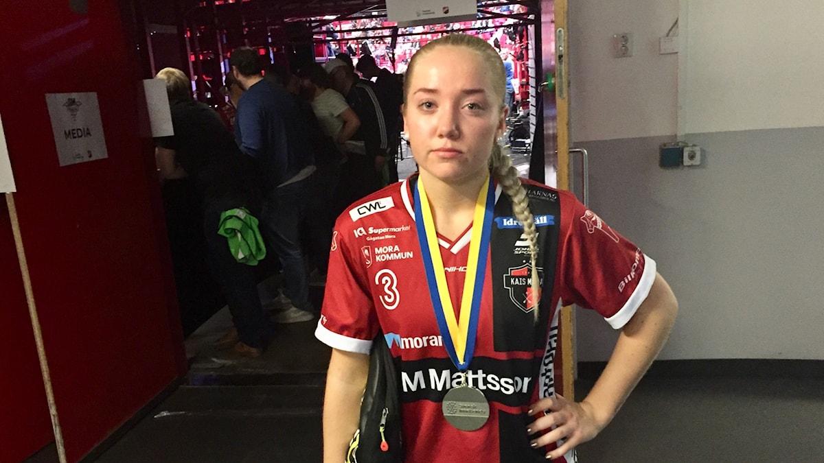 En gråtande Moa Andersson är besviken efter att skrällaget Täby snuvat dem på SM-guldet i Globen.