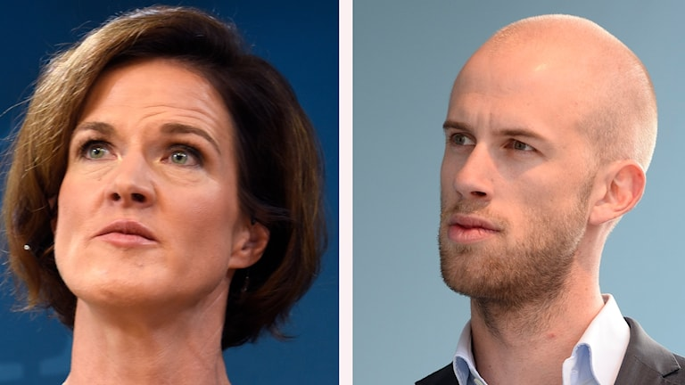 Riksdagsledamoten Carl-Oskar Bohlin och partiledaren Anna Kinberg Batra från Moderaterna.