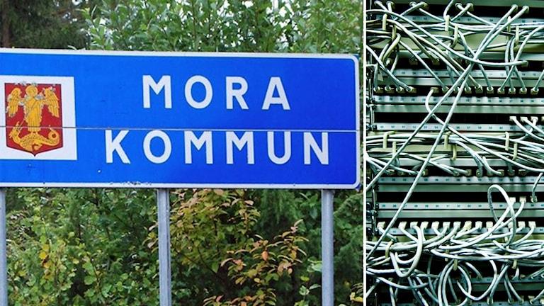 Moras kommunskylt