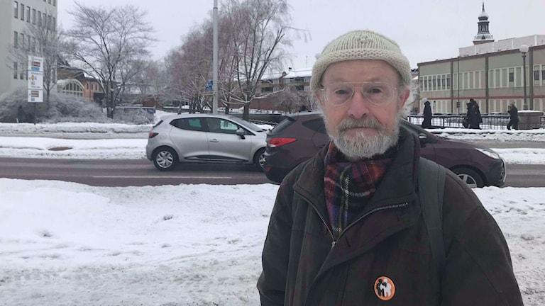 Richard Holmqvist, miljöpartist och vice ordförande för miljö- och samhällsbyggnadsnämnden i Falu kommun.