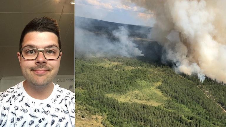 Kim Åslund och skogsbranden i Trängslet.