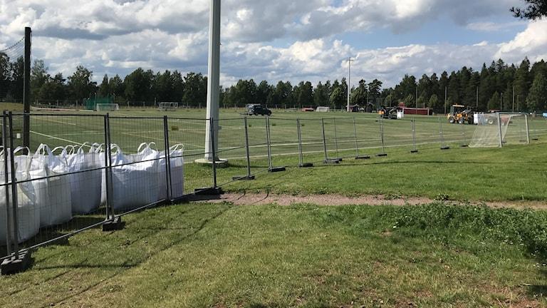Fotbollsplanen Siljansvallen i Leksand