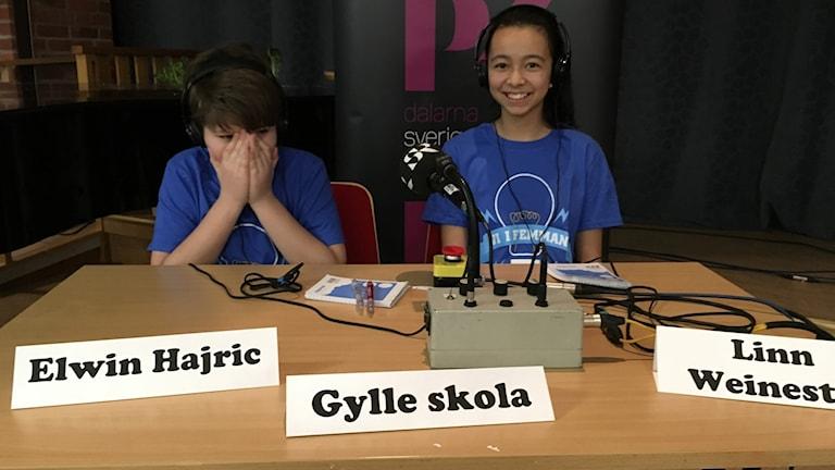 Elwin Hajric  och Linn Weinestad från Gylle skola vann.