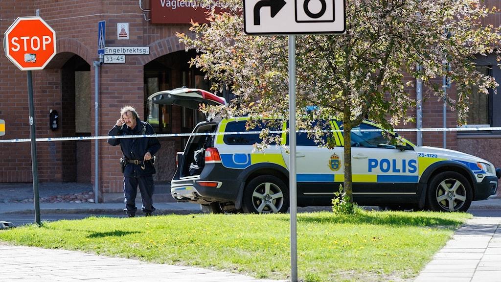 Bomblarmet i Falun var falskt.