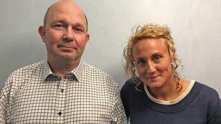 Mats Nilsson (s) och Karoline Willfox (M), politiker från Säter.