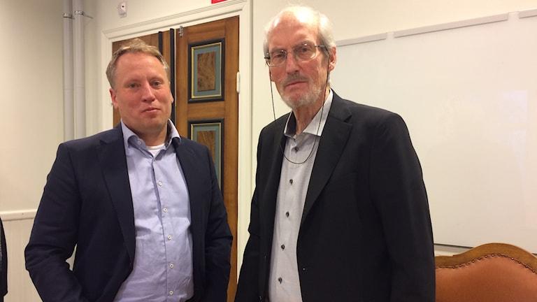 Jörgen Olsson och Olle Rigborn, vd respektive styrelseordförande för Tunabyggen.
