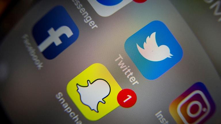 Sociala medier ikoner