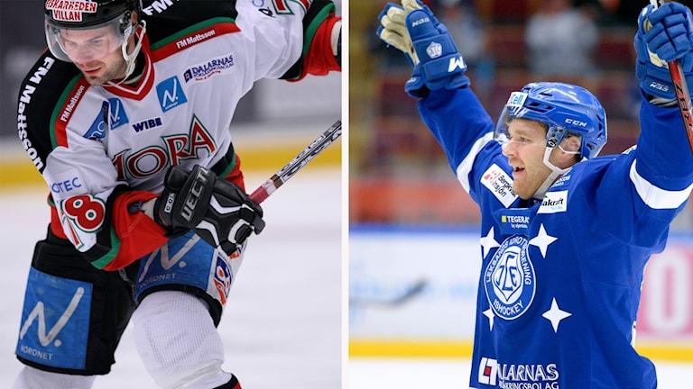 Mikael Simons, Mora IK, och Jens Bergenström, Leksands IF