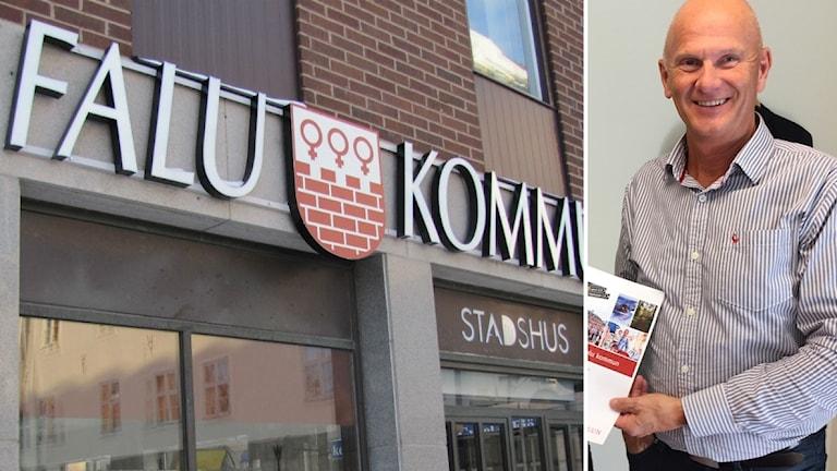 Falu kommun-skylt och Kjell Nyström