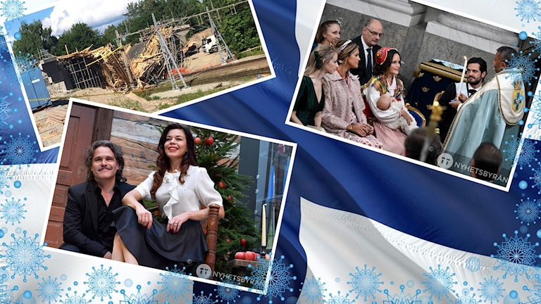 Rasad bro, Finlands flagga, prinsdop och julvärdar.