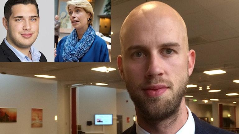 Carl-Oscar Bohlin,  Delmon Haffo och Annika Strandhäll