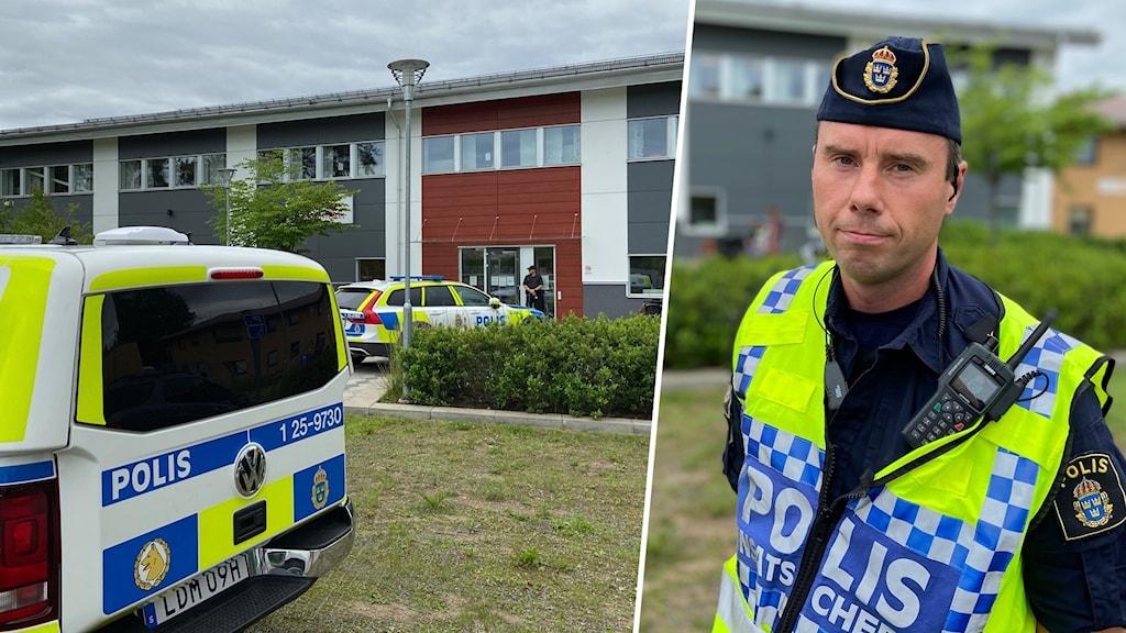 Jonas Häll, polisinsatschef på plats.