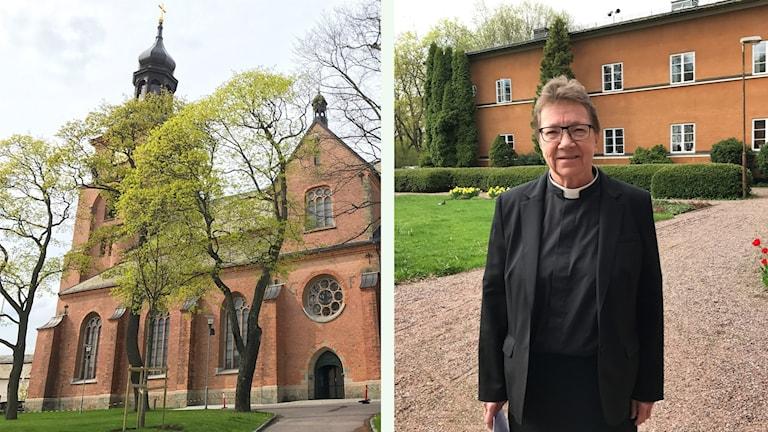 Falun Kristine kyrka och Ann-Gerd Jansson.