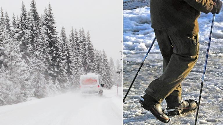 isig och snöig väg