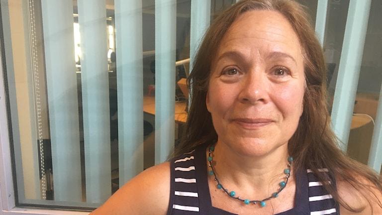 Kajsa Fredholm, en kvinna porträtt