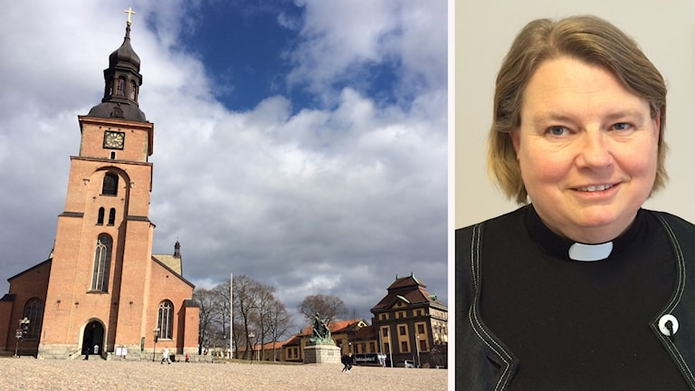 Kristine kyrka vid Stora torget i Falun och kyrkoherde Christina Eriksson.