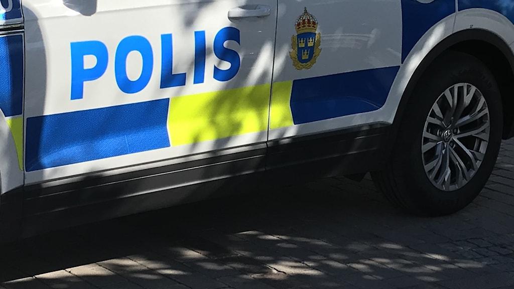 Del av polisbil.