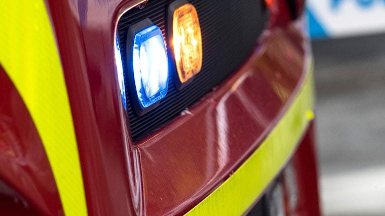 detalj på brandbil