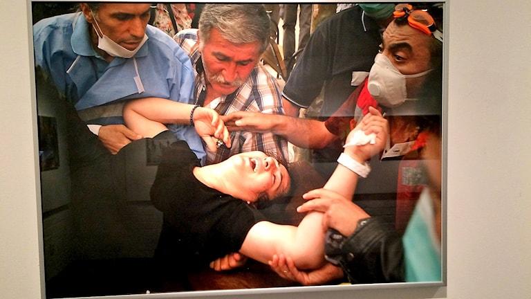Foto av Hossein Salmanzadhe från Geziparksprotesterna i Ankara, Turkiet, år 2013.