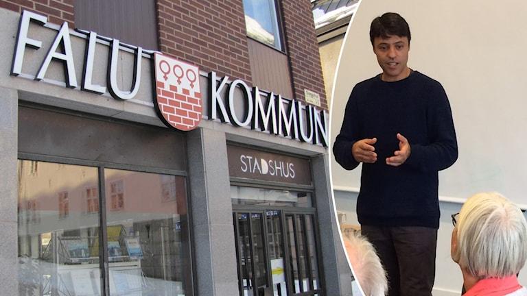 Silas Valerio, samordnare för projektet Flyktingguider i Falun kommun.
