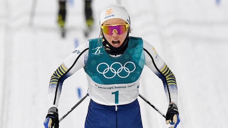 Stina Nilsson under OS i Pyeongchang.