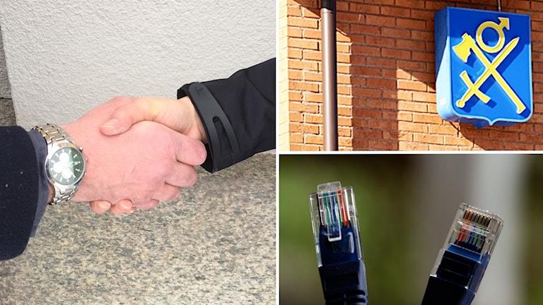Handslag, fibersladdar, Vansbros kommunvapen