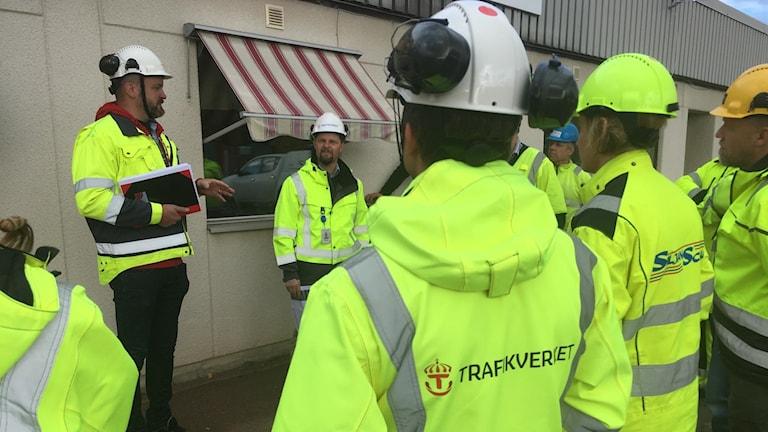Personal från Trafikverket och anläggningsbranschen