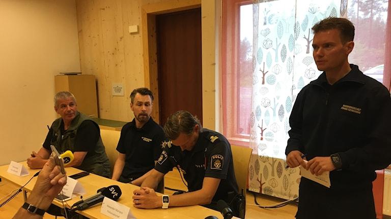 Bild från presskonferensen