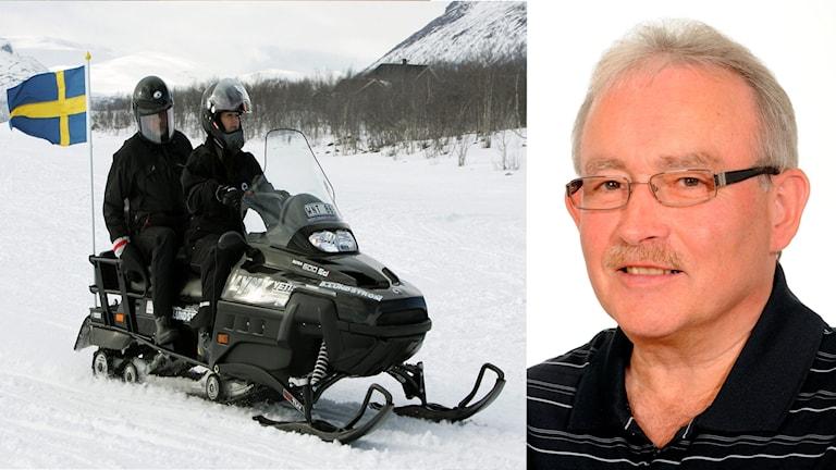 Kjell Landén är vice ordförande för Sveriges snöskoterägares riksorganisation, Snofed.