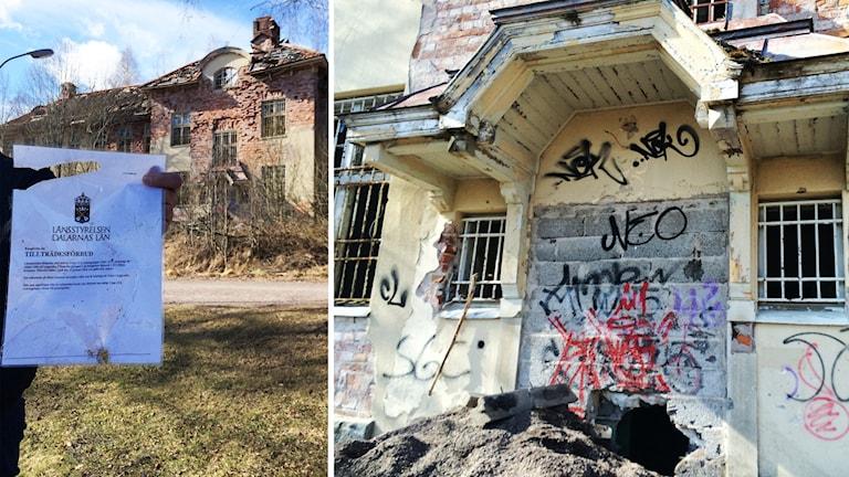 Ett förfallet hus