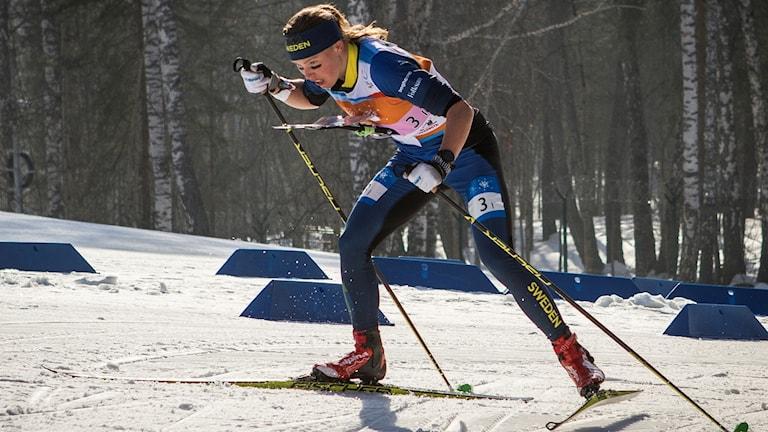 Tove Alexandersson på skidor