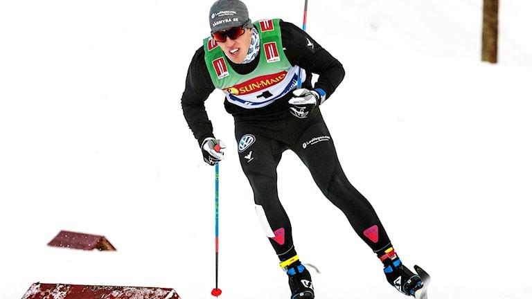 Calle Halfvarsson vann premiärsprint.