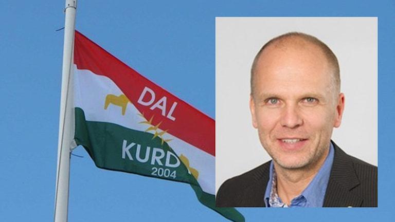 Dalkurds flagga och kommunalrådet i Uppsala Rickard Malmström