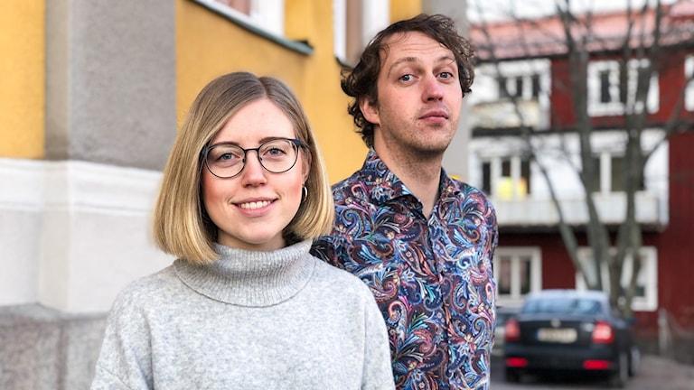 Frida Danielsson, programledare, och Pelle Andersson, domare, för Vi i Femman.