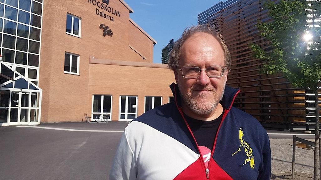 sägerSverker Johansson, chef för utbildnings- och forskningskansliet vid Högskolan Dalarna. Foto: Sofie Lind/Sveriges Radio.
