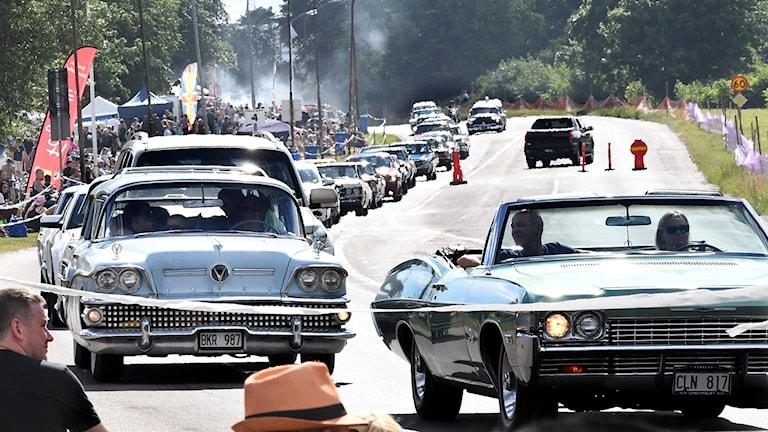 Bilarna på Classic Car Week - rariteter och klimatbovar.