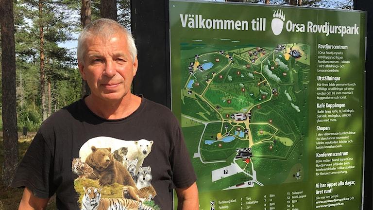 Sven Brunberg, anläggningschef Orsa rovdjurspark