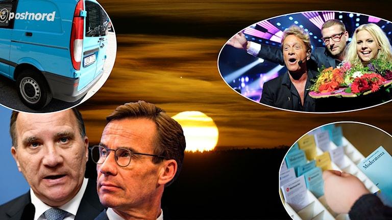 Postnord, Stefan Löfven, Ulf Kristersson, Melodifestivalen, valsedlar.