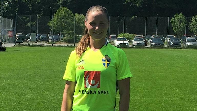 Hanne Gråhns, här under landslagssamlingen i Göteborg.