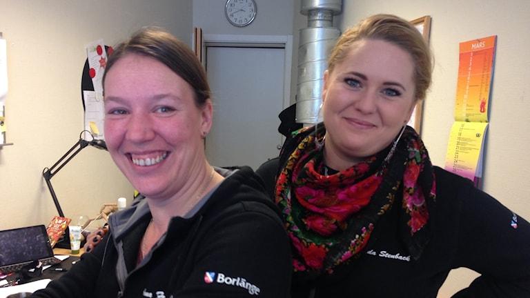 Fritidsledare för 2punkt0 i Tjärna Ängar, Anna Fredriksson och Frida Stenback