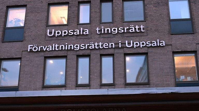 Tingsrätten i Uppsala.