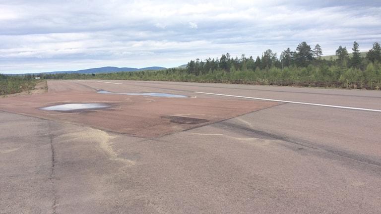 En landningsbana i Sälen