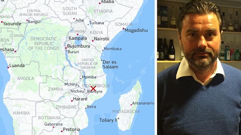 Robert Tamm är VD för Mat vid Siljan som driver ett biståndsprojekt i Moçambique i södra Afrika.